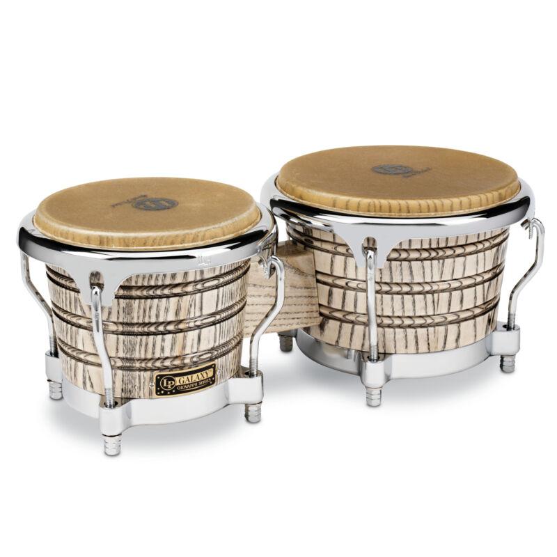 Latin Percussion LP Galaxy Giovanni Wood Bongos Chrome Hardware