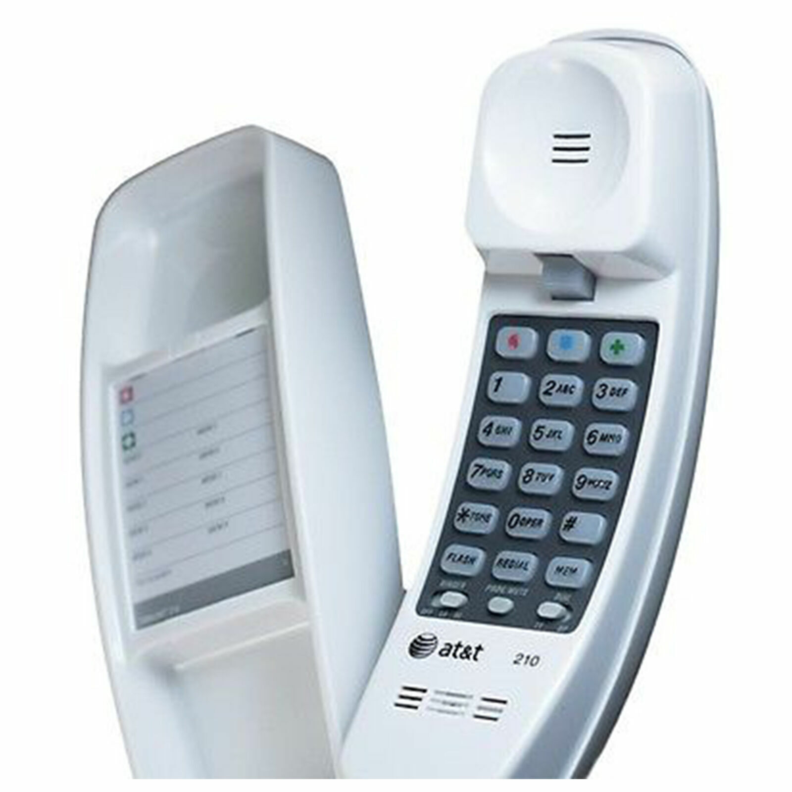 Corded Telephone Home Desk Wall Mount Landline White Handset