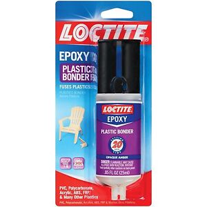 Loctite Epoxy (1363118 ) Plastic Bonder 0.85-Fluid Ounce Syringe *