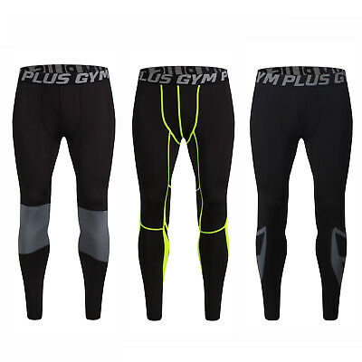 New Compression Mens Boys Base Layer Tights Sport Skins Under Gear Fit Pants Gym