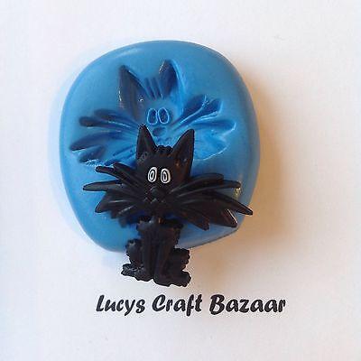ween Scaredy Fraidy Cat Spooky Cupcake Pop Topper Decoration (Halloween Fraidy Cat)