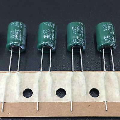 100pcs 25v 330uf 25v Suncon Sanyo Cz 8x11.5 Wide Range Temperature Capacitor