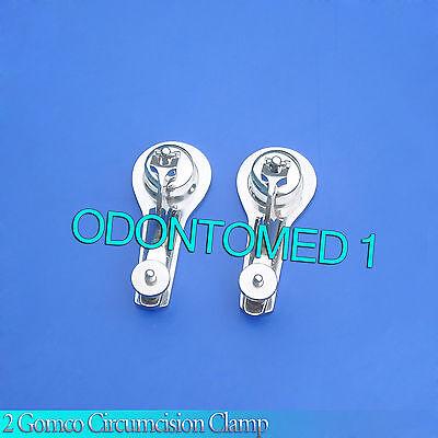 2 Pcs Gomco Circumcision Clamp 3.4cm 3.5cm Surgical Instruments