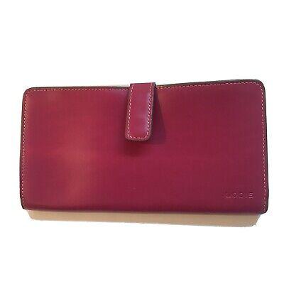 Lodis Audrey Clutch Wallet Pink Plum & Green Leather NWOT  Lodis Audrey Clutch Wallet