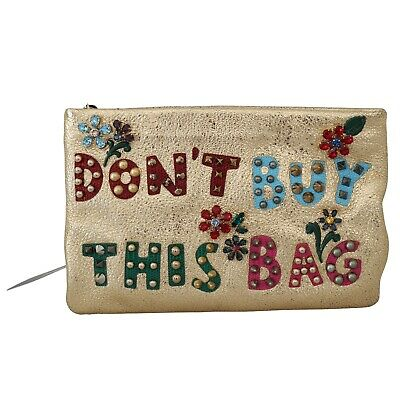 DOLCE & GABBANA Bag Cleo Clutch Crystal Embellished Dont Buy This Bag Gold (Dolce And Gabbana Buy)
