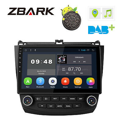 "10.1"" Android 8.1 Car GPS Navi Stereo Radio Player BT For Honda Accord 2002-2007"
