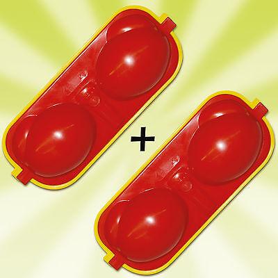 2 x Eierträger Eierbox Eierbehälter inkl. 2 Löffel+Salzstreuer DDR Ostalgie