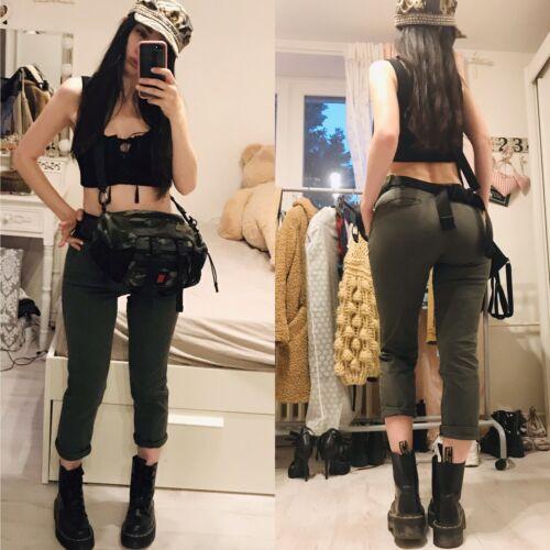👖Chino Hose Jeans Damen Khaki Trend Mid Waist Schnäppchenpreis