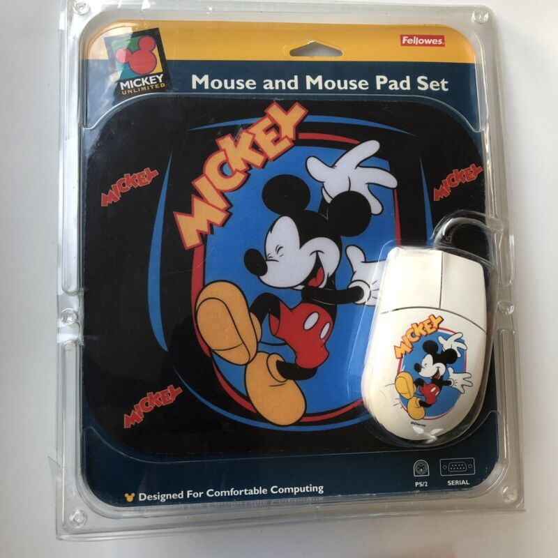 Fellowes Mouse & Mouse Pad Set Mickey Mouse