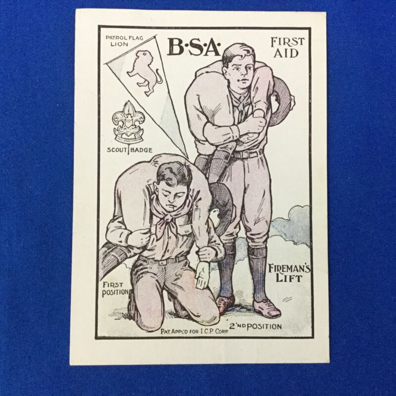 Boy Scout Color Picture Card Scouts