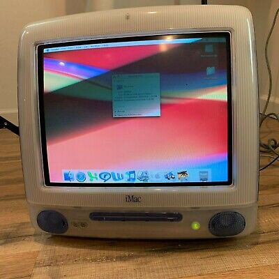 Apple iMac M5521 Vintage Computer + Extras Tested Blue G3/450 DV+ 20 GB 450 MHz