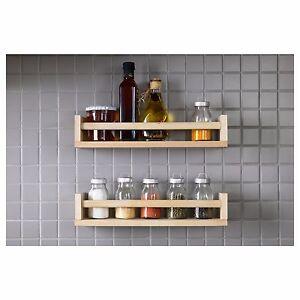 pine spice rack kitchen jar storage wall mounted wooden shelf solid