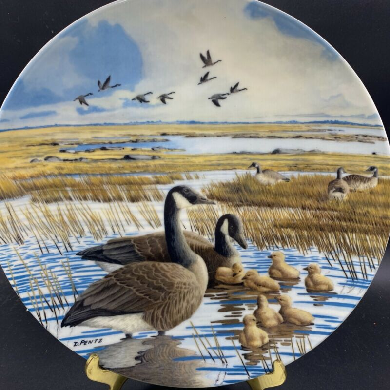 Canadian Geese collector plate The Family Donald Pentz Goose With COA