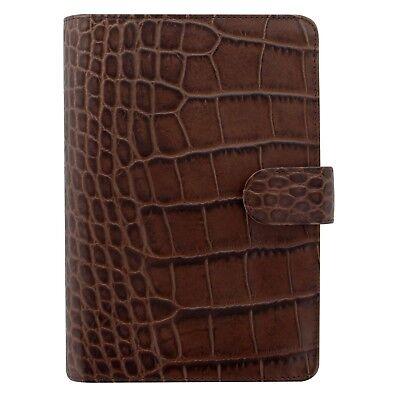 Filofax Personal Croc Print Personal Size Leather Organizer Agenda Diary 026016