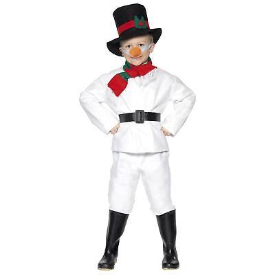 Kinder Mädchen Jungen Weihnachten Frosty Schneemann Lustige Neuheit - Karotte Kostüm Kinder