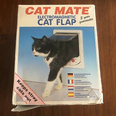 Cat Mate Electromagnetic Cat Flap New In Box With Instructions Pet Door