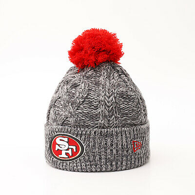 New Era NFL San Francisco 49ers Bommel Winter Mütze Beanie Graphteam Grau Sale