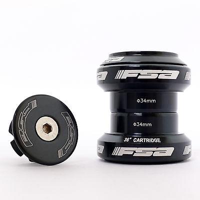 FSA Orbit MX 1 1/8 Threadless Mountain Bike Headset Black with Star Nut and Cap