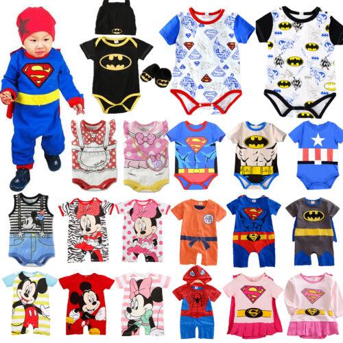 Baby Jungen Mädchen Body Overall Strampler Baumwolle Kleidung Bodysuit Romper A