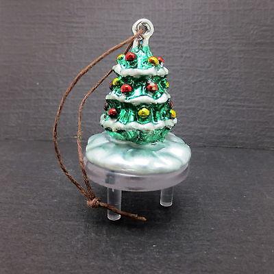 1995 Boston Warehouse Christmas Tree Shaped Ornament  Cake Topper