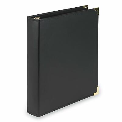 3-ring Binder Portfolio Organizer Document Storage Folder Leather Pad-folio New