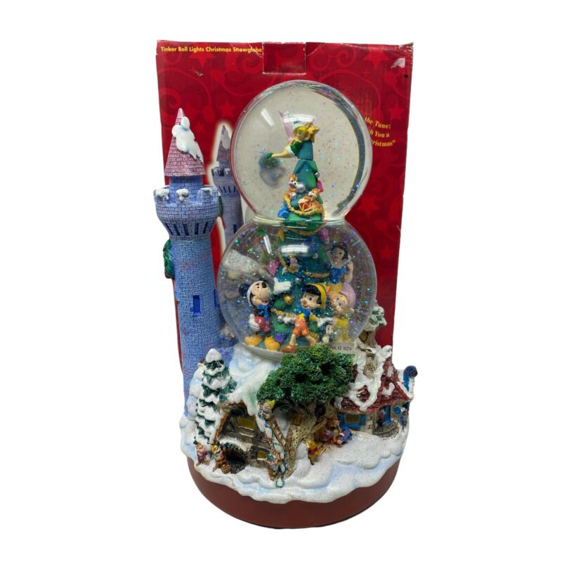 """Disney Store Musical Snow Globe """"We Wish You A Merry Christmas"""""""