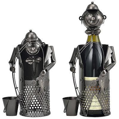 [en.casa]® Porte-bouteille pêcheur support pour bouteille de vin