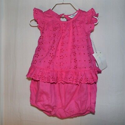 Ralph Lauren Pink One Piece Infant Girls Outfit 9 Months NEW