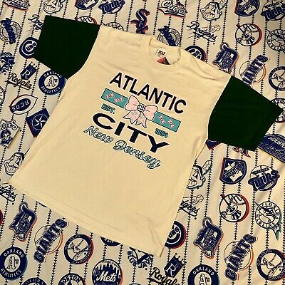Vintage Atlantic City New Jersey T Shirt Made In USA Size Large