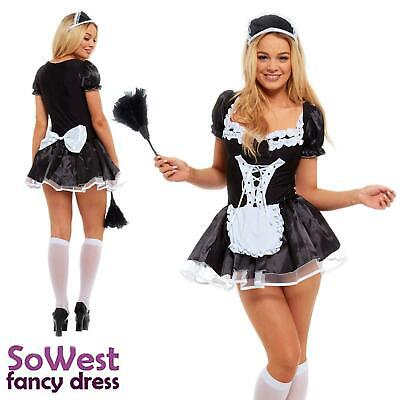 French Maid Fancy Dress Costume Womens Outfit Plus - Sexy Womens Fancy Dress