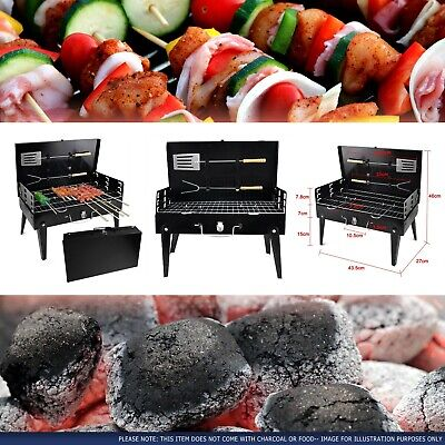 Portable Folding Charcoal BBQ Barbecue Camping Grill Travel Picnic Outdoor