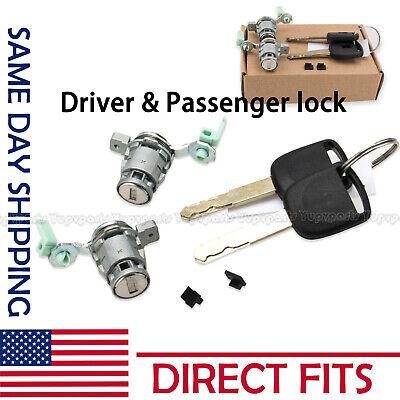 Right Door Lock (Left & Right Door Lock Cylinder w/ 2 Keys For 2003-2005 Honda Civic 1.3L)