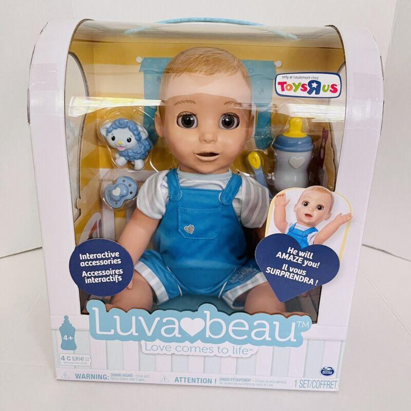 New LuvaBella Luva Bella Interactive Baby Doll BOY Luvabeau Beau ToysRUs Blue