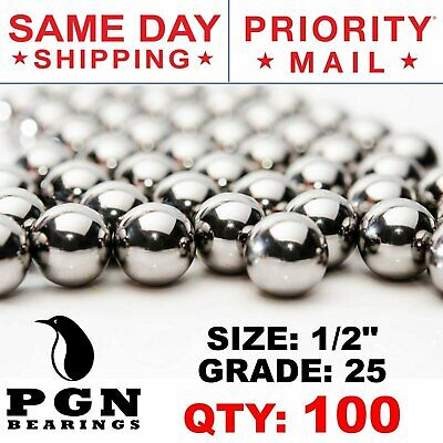 """0.5/"""" 10 PCS 1//2/"""" Inch AISI 440 Stainless Steel Bearing Ball G25 Precision"""