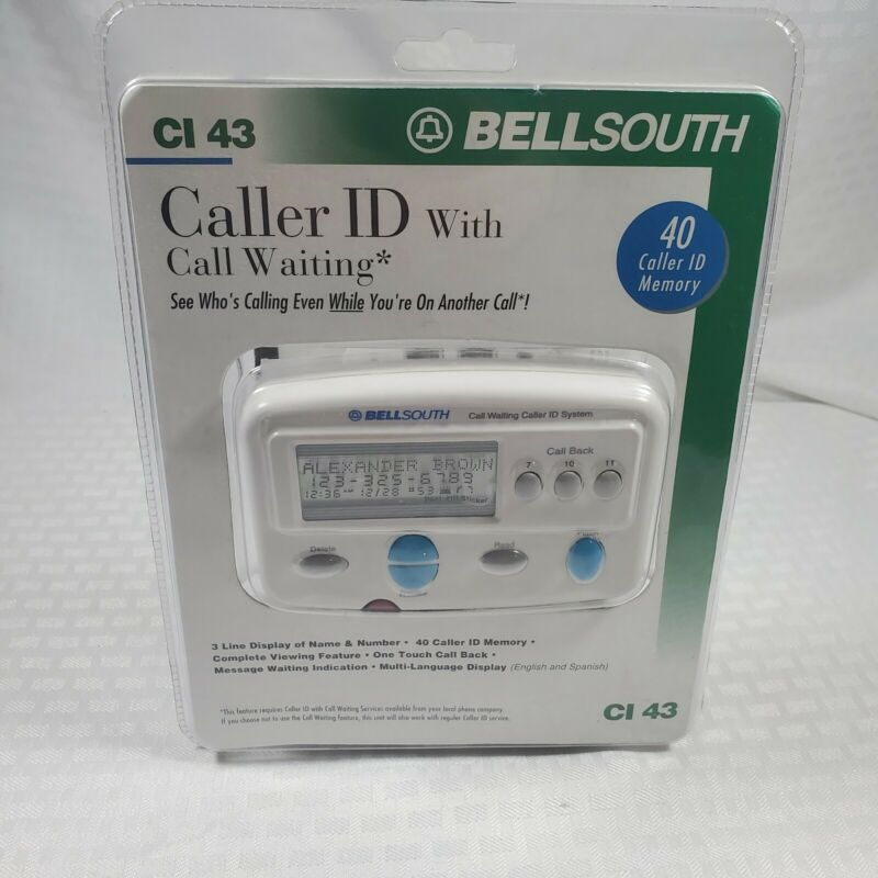 Bellsouth Caller ID With Call Waiting CI 43 - NEW White 45 Caller ID Memory