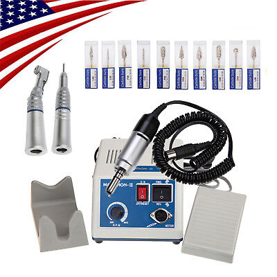 Dental Lab Marathon Handpiece 35k Rpm Electric Micromotor Polisher 10 Drills 3