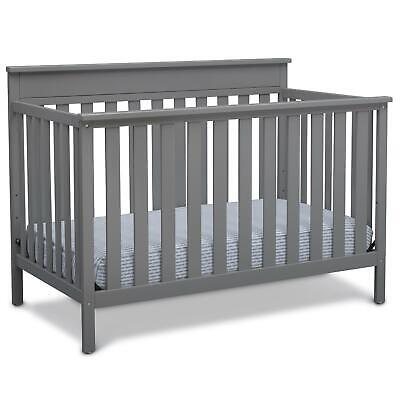 Delta Children Kingswood 4-in-1 Convertible Baby Crib, Grey