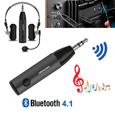 Wireless Bluetooth Mini Bullet 3.5mm Car Aux Music Receiver Audio Adapter Mic