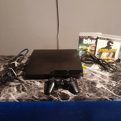 Sony PlayStation 3 slim 160 GB CECH3001A W/contr,3 games and cords TESTED