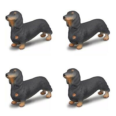 BREYER CORRAL PALS DACHSHUND #88185 CollectA Pack Of 4 Dogs