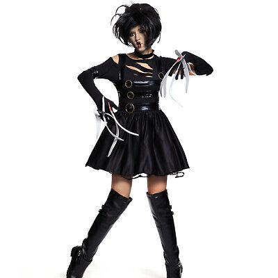 1980s Womens Adult Miss Edward Scissorhands Halloween Fancy Dress