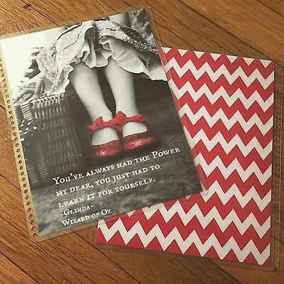 Red Slipper Quote Frontback Cover Set Made For Use W Erin Condren Life Planner