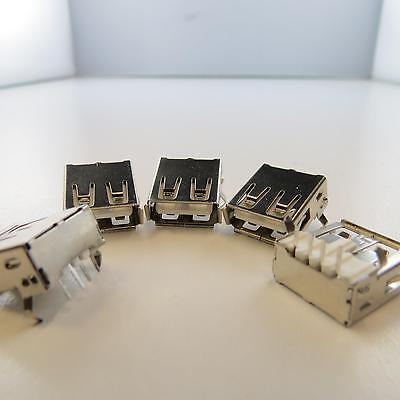 5 x USB 2.0 Typ A Einbaubuchse Drucker Stecker Jack Sockel Socket Connector