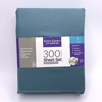 Better Homes & Gardens 300 Thread Count Twin Wrinkle-Free Sheet Set