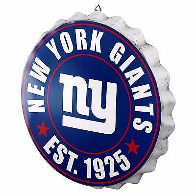 New York Giants Bottle Cap Sign - Est 1925 - Room Bar Decor NEW 13.5