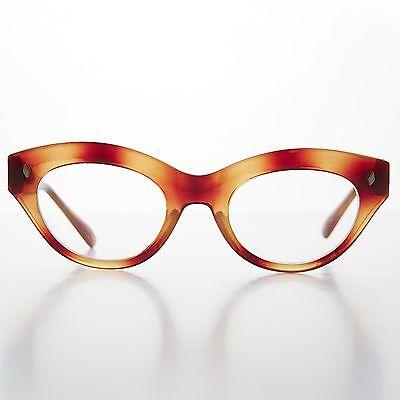 Cat Eye Vintage Klarglas Brille Optisch Qualität - Sherry
