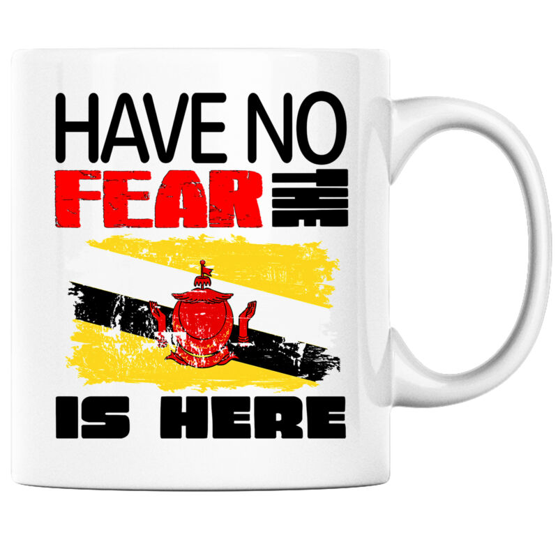 Have No Fear the Bruneian is Here Funny Coffee Mug Brunei Heritage Pride