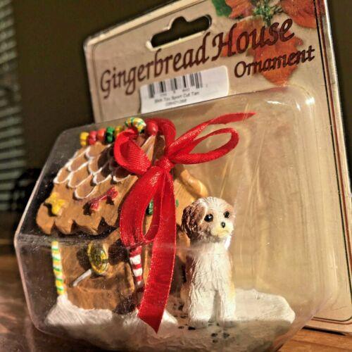 Shih Tzu Christmas Ornament Gingerbread House Tan Sport Cut Dog Ornament New