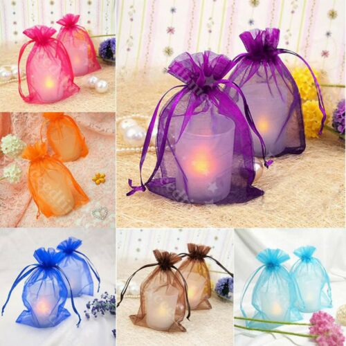 25/50/100pcs Sheer Organza Wedding Party Favor Gift Candy Ba