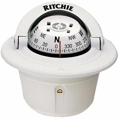 Ritchie F-50 Explorer Compass Flush Mount White 2-3/4""